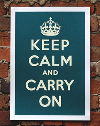 keep calm emerald