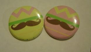 moustache buttons