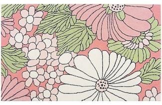 pink flower rug