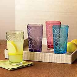 Honeycomb etchedglasses