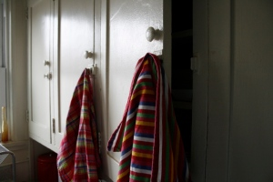 latches with towels